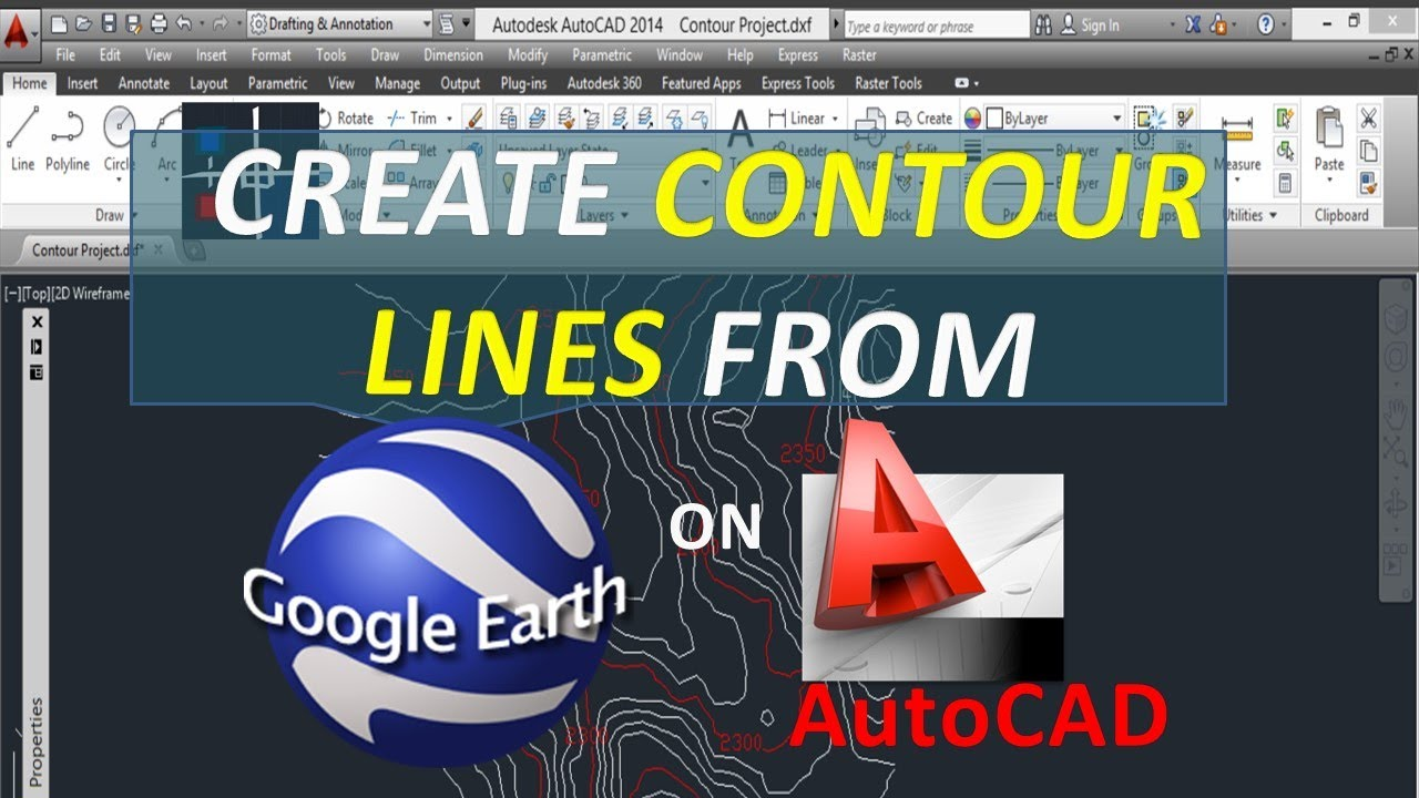Create contour lines from google earth on autocad free open create contour lines from google earth on autocad free open source youtube gumiabroncs Images