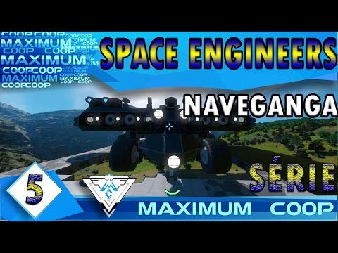 SPACE ENGINEERS COOP #5 - A PODEROSA NAVEGANGA! / PT-BR 1080