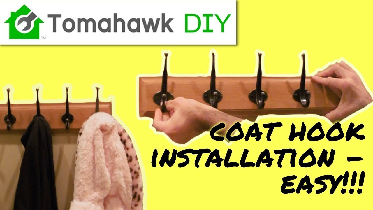 How to Install a Wall Coat Rack - YouTube