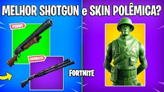 FORTNITE - PUMP vs SHOTGUN COMBATE e SKIN APELONA?