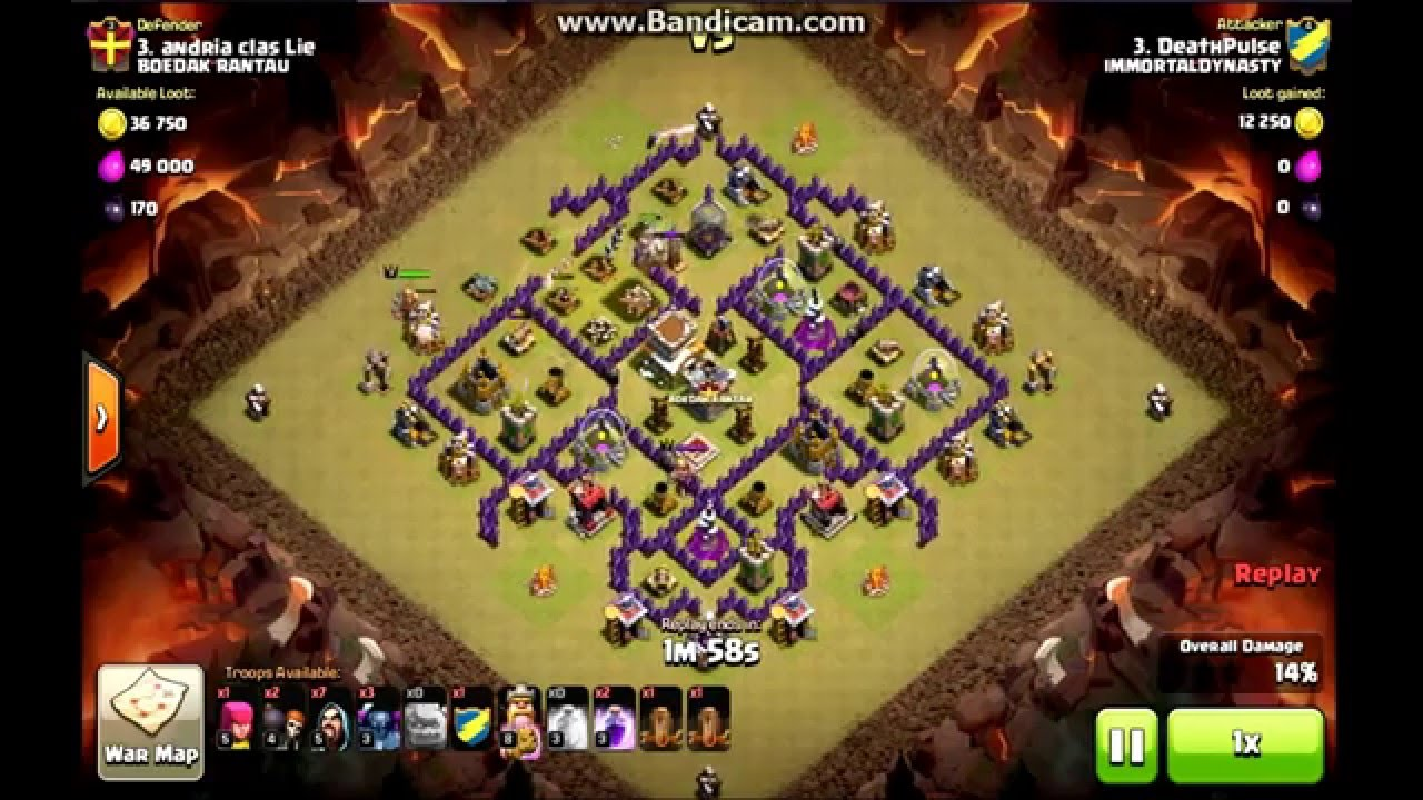 Coc th8 war gowipe attack strategy 2016 new update youtube