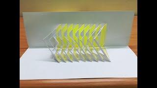 Pop-Up Card geometric-How to make a geometric pop-up card 5-如何做幾何立體卡片#5
