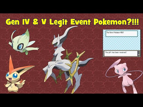 How To Get LEGIT Event Pokemon In Gen 4 & 5 (2019)