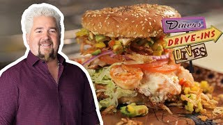 """This """"Burger"""" Is Made Out of SHRIMP (from #DDD with Guy Fieri) 