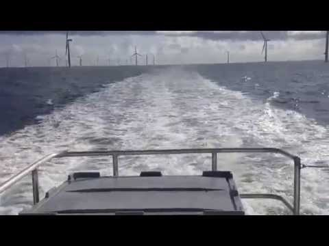 Rix Panther Crew Transfer Vessel at Offshore Wind farm