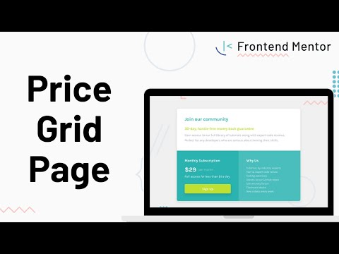 Single Price Grid Component - Design To HTML/CSS