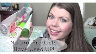 Natural Products EMPTIES! | Products I have Used UP | December 2013