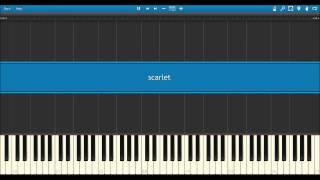 Narcissu scarlet MIDI (Synthesia)