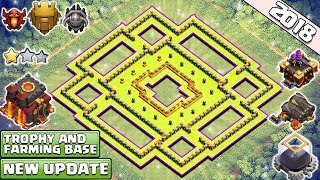 BEST! NEW! Town Hall 10 Base for 2018 | th10 Trophy and Dark Elixir Farming Base 2018-Clash of Clans