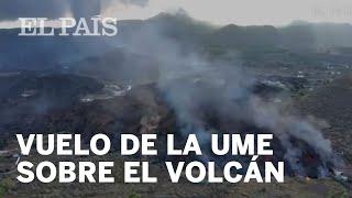 Vuelo de reconocimiento de la UME para comprobar el avance de la lava