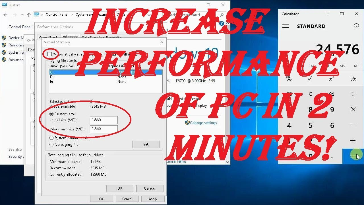 How to Speed Up Your PC by Increasing Virtual Memory ...