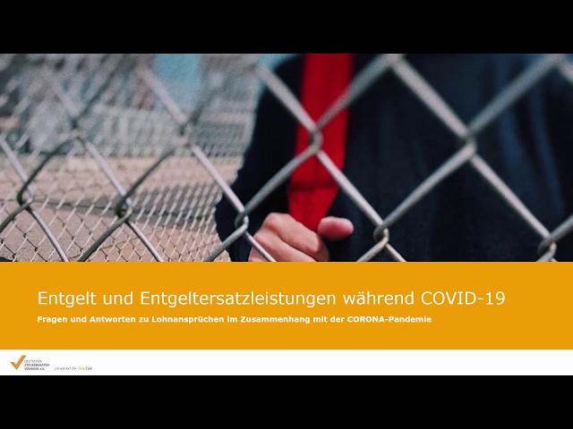 Entgelt und Entgeltersatzleistungen während COVID-19