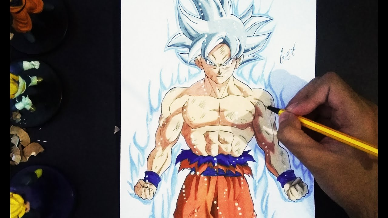 Dibujando A Goku Ultra Instinto Dominado Drawing Goku Mastered