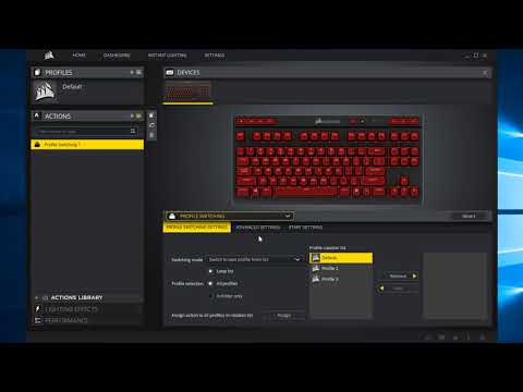 Profile Switching || CUE/iCUE || Corsair Utility Engine