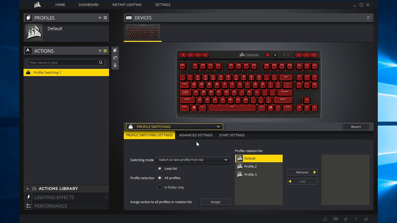 Profile Switching    CUE/iCUE    Corsair Utility Engine