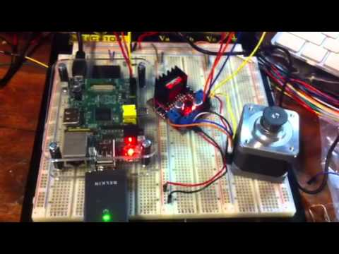 Raspberry pi driving stepper with l298 youtube for Raspberry pi stepper motor control