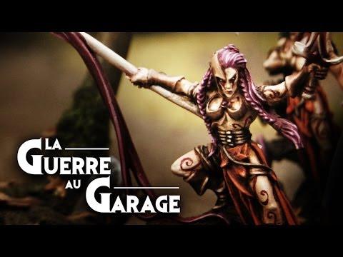 - La Guerre au Garage N°5 - rapport de bataille Warhammer Elfes Sylvains /Démons