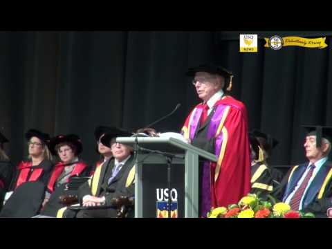 Hon. Michael Kirby AC CMG speaks at the USQ Graduation Ceremony