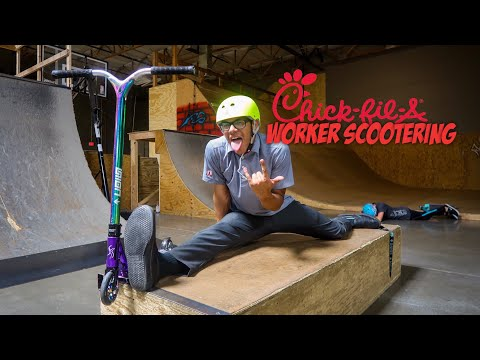 CHICK-FIL-A WORKER vs SCOOTER