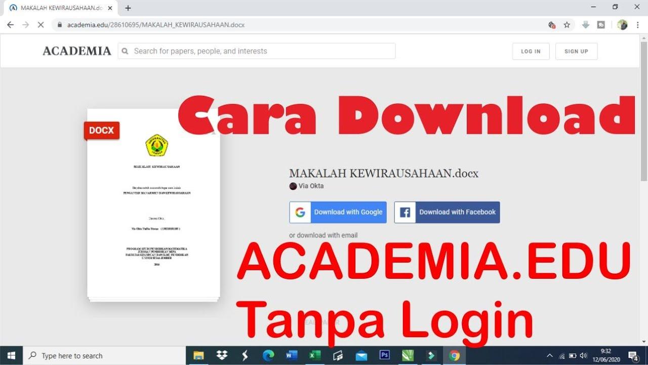 Cara Download Di Academia Edu Dan Scribd Tanpa Login Youtube