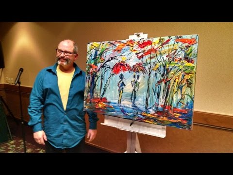 Michael Tolleson, Autistic Savant Artist, paints live and speaks of