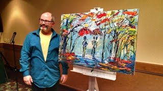 "Michael Tolleson, Autistic Savant Artist, paints live and speaks of ""The Light Within"""