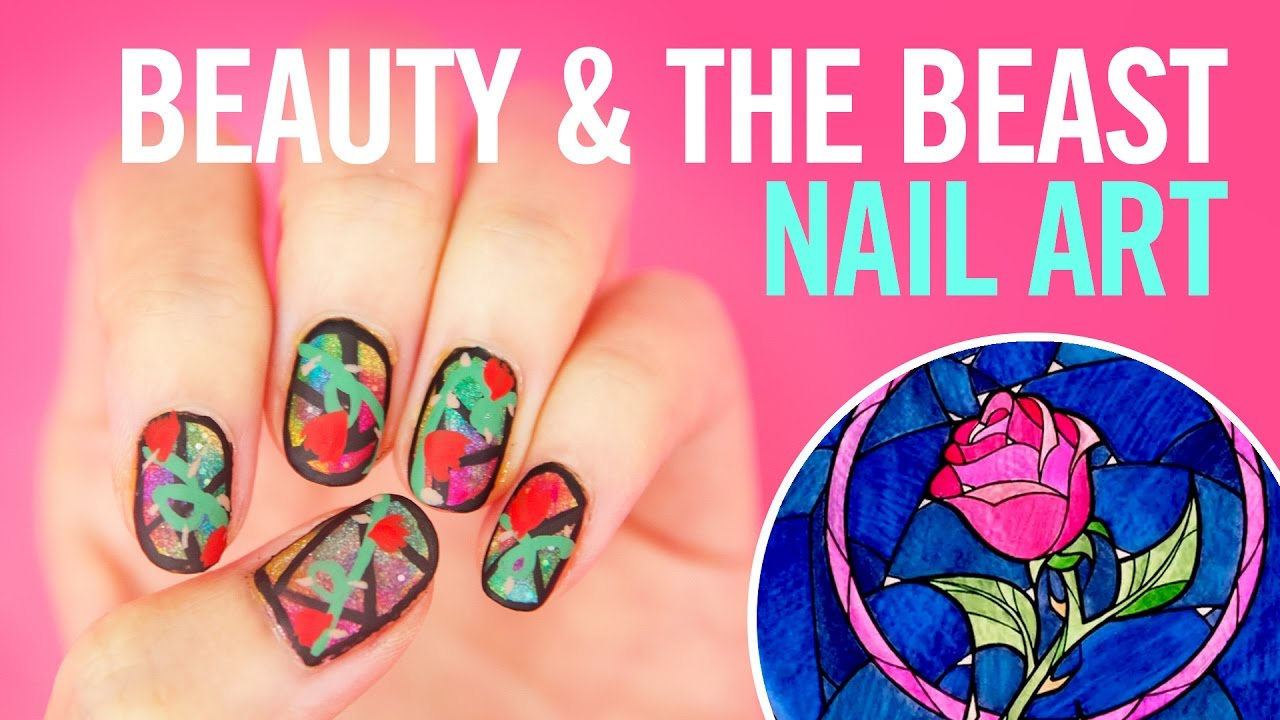 Beauty And The Beast Nail Art Tutorial Tips Disney Style Youtube
