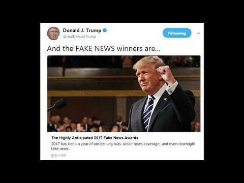 "President Trump unveils his 2017 ""Fake News Awards"""