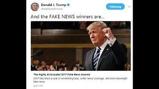 "President Trump unveils his 2017 ""Fake News Awards"""