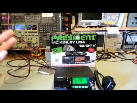 President McKinley USA 40 ch AM/SSB CB radio teardown and review.