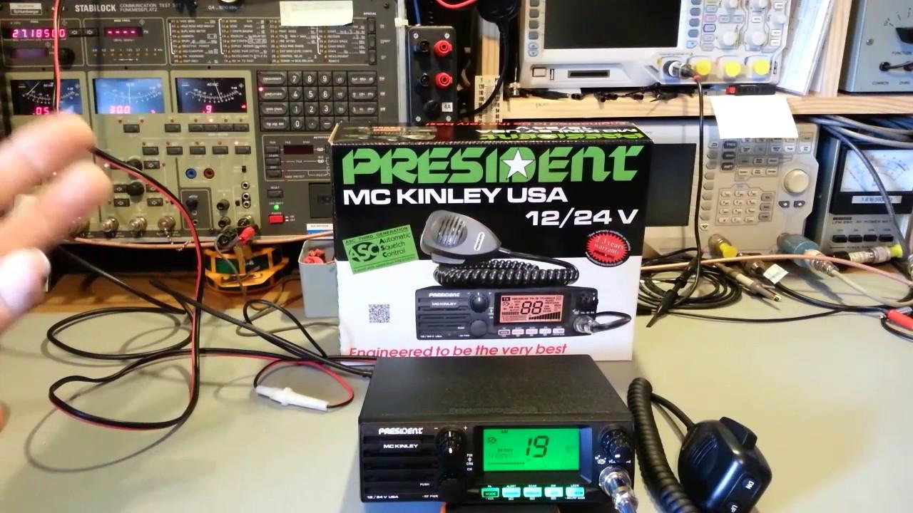 President McKinley USA 40 ch AM/SSB CB radio teardown and review