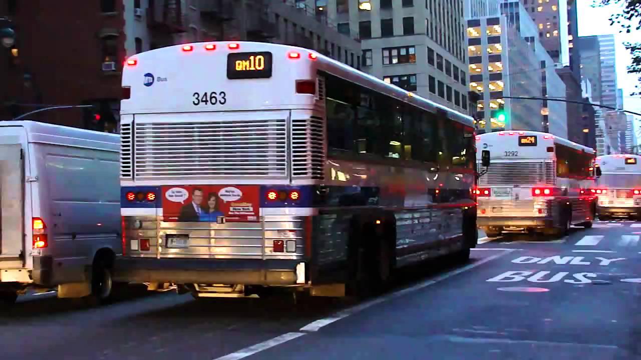 mta bus : mci d4500cls on the qm5, qm2, bxm1, qm24 & qm10 @ 3rd