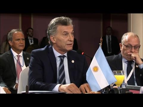 Macri asumió la Presidencia del Mercosur y criticó la situación de Venezuela