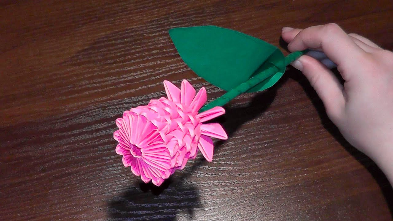 Papercraft 3D origami flower rose tutorial (video with a surprise ending)