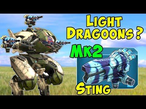 Light Dragoons? War Robots Mk2 STING PURSUER Gameplay WR 4.4