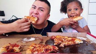 🍕CHEESY BACON PIZZA MUKBANG🍕