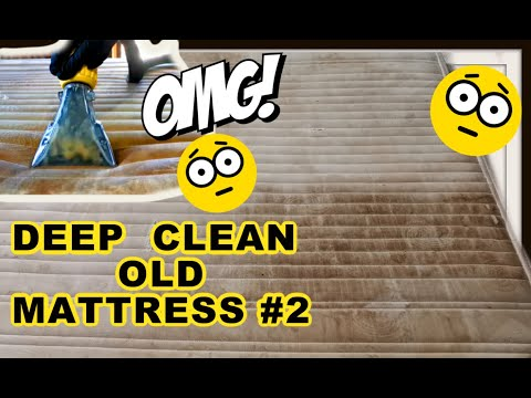 Deep Clean 15 Year Old Mattress, Extremely Dirty With Old Pee, Urine, Vomit, Sweat Stains