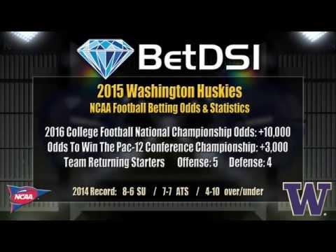 Washington Huskies Odds   NCAA Football Picks and 2015 PAC ...