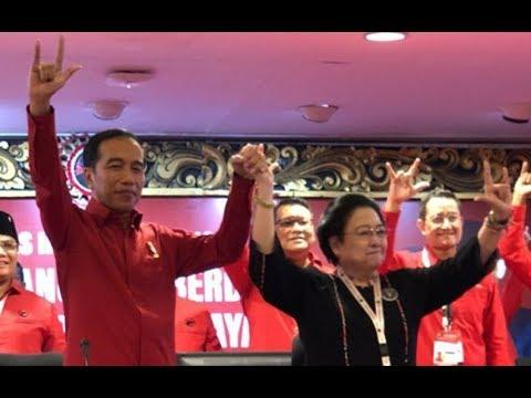 Megawati Resmi Tunjuk Jokowi Jadi Capres PDI Perjuangan