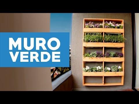 C mo hacer un muro verde para el jard n youtube - Hacer un jardin ...