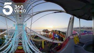 Riding the Santa Monica Ferris Wheel | KTLA 360