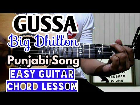 Gussa - big dhillon - easy guitar chord lesson, beginner guitar tutorial, guitar cover