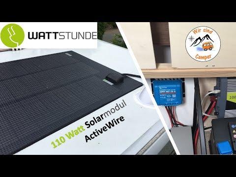 110 Watt Solar auf dem Wohnwagen von Wattstunde | Rabattcode in der Beschreibung