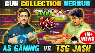 TSG Jash Vs As Gaming    Best & Legendary Gun Skins Collection😱- Who is Best - Free Fire Collection