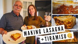 طبخ لازانيا (لحم و نباتي) + تيراميسو جعل الطعام الإيطالي لذيذ وسهل في المنزل!