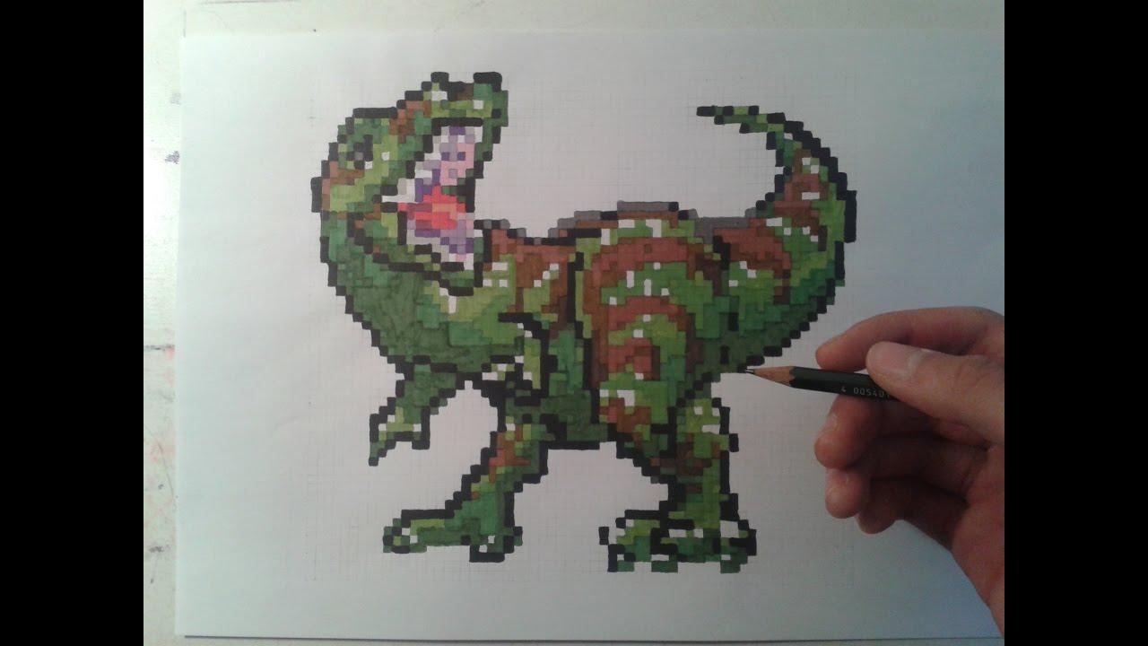 Dessiner Un Dinosaure Pixel Art
