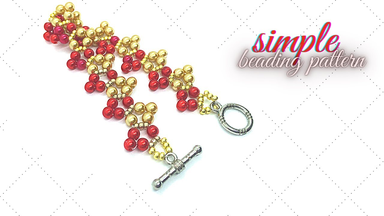 Beads bracelet. Easy beading pattern for beginners. Beading tutorial