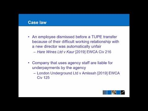 Employment Law Update 2019 20