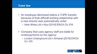 Employment Law Update 2019 20