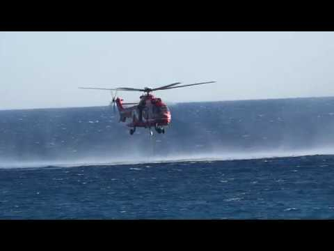 Hellenic Fire Service AS-332 L1 Super Puma for Firefighting in Lagonisi 31/07/2017